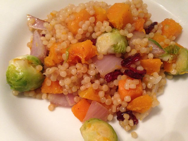 couscous with roasted veggies and cranberries