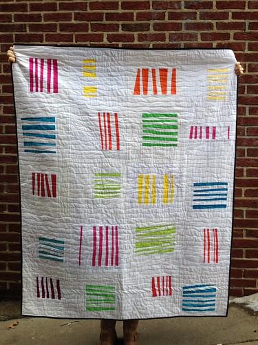 August 2014 Harmony. do good stitches - Improv Stripes