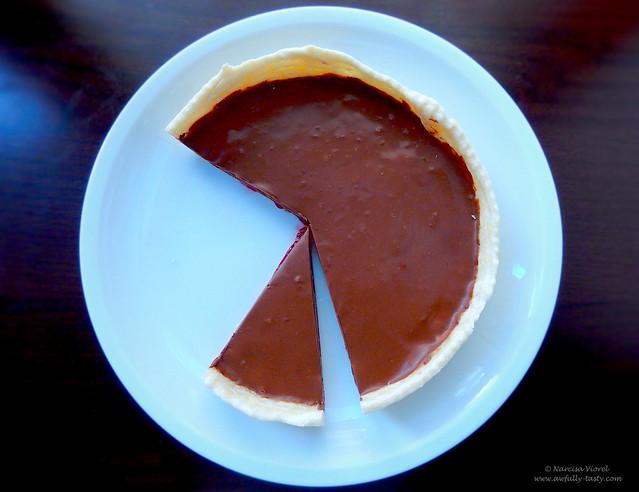 tarta cu zmeura si ciocolata