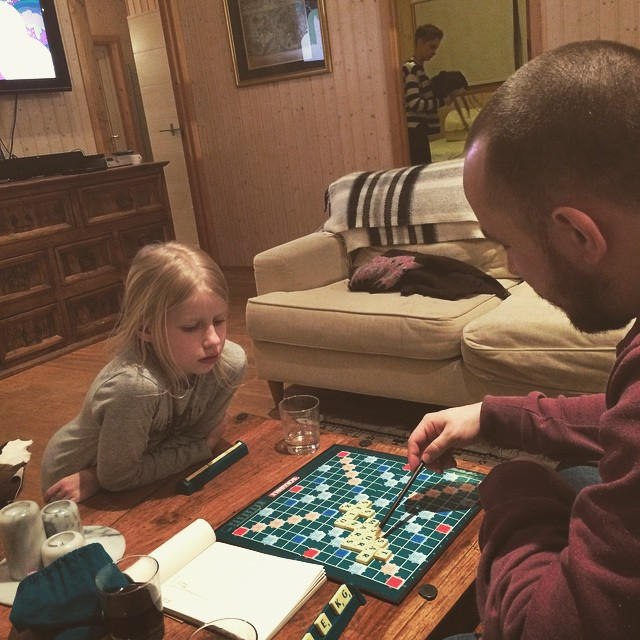 #scrabble and cozy time at the cabin
