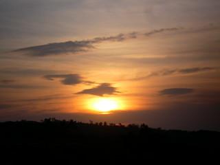 SANY0275: Sunset @ BITS Pilani-Goa Campus, main gate