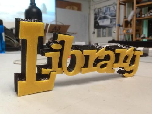 CRASHspace Library sign