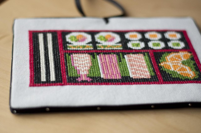 sushi cross stitch!
