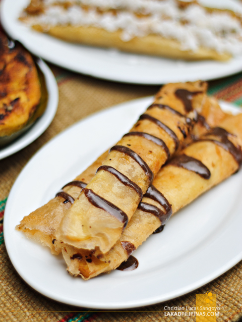 Turon de Langka at Choco-Late de Batirol in Baguio