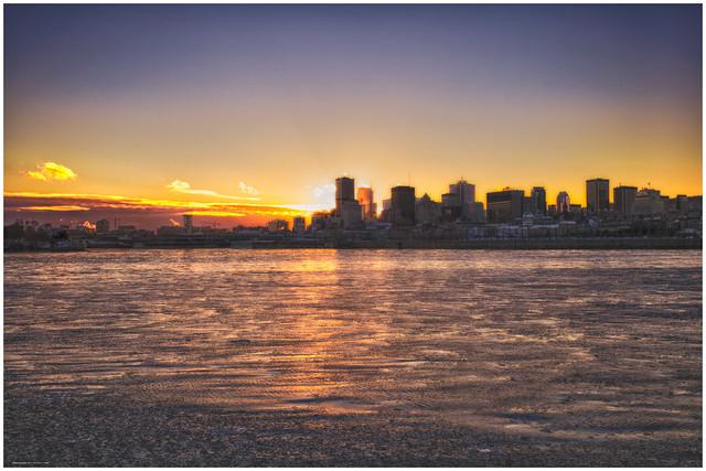 Sunset on montreal coucher de soleil sur montreal - Coucher de soleil montreal ...