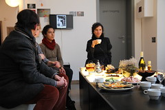 We ended the last day of the exhibition Future Fictions with a delicious FoAM Afternoon Tea, where visitors would enter the Futures Lab for a drink and a chat with the people of FoAM, curator Karen Verschooren and other visitors.   www.z33.be/en/projects/foam-last-afternoon-tea-futures-lab