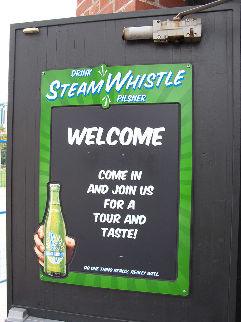 Steam Whistle sign