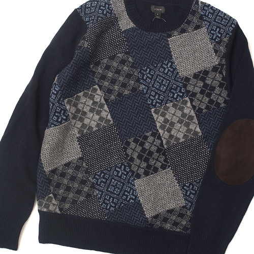 J.Crew / Lambswool Patchwork Sweater
