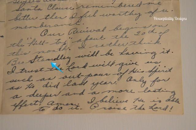 Old letter-Housepitality Designs