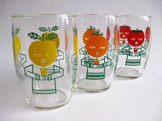 Vintage Fruit Lemonade Glasses