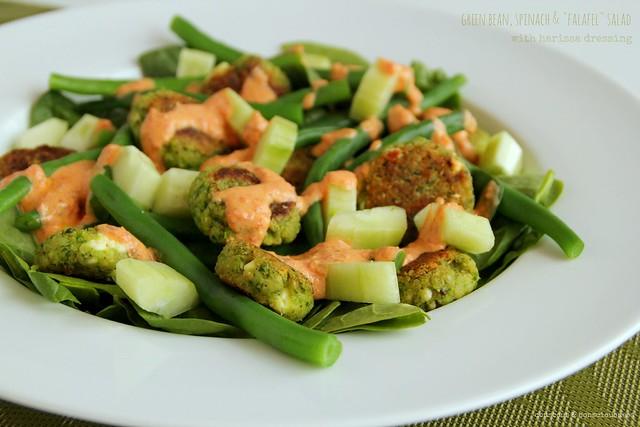 Green Bean, Spinach & Falafel Salad 1
