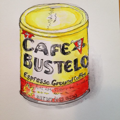 Cafe Bustelo Espresso Watercolor