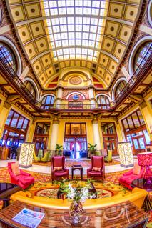 The Lobby of Nashville's Union Station Hotel