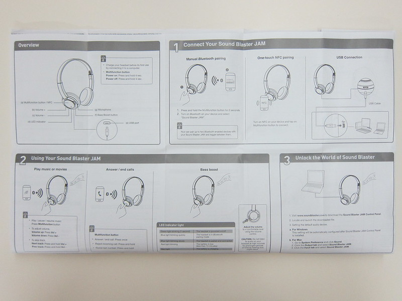Creative Sound Blaster Jam Headphones - Instructions
