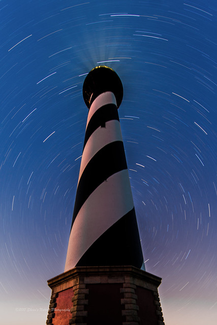 Light House Star Trails