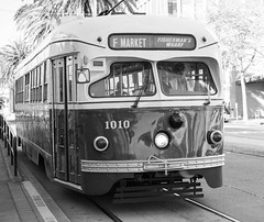Streetcar in Black and White