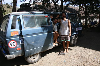 Alfo and Feddie from Uruguay at the Naked Tiger Hostel.  San Juan Del Sur, Nicaragua.