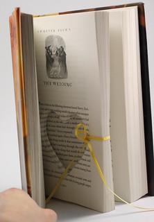 Harry Potter Deathly Hallows The Wedding Heart Cut Ring Holder Hollow Book - Handmade