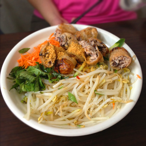 Vietnamese Food-Fried spring roll noodle