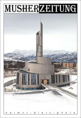 Nordlichtkathedrale, Alta , Nordnorwegen (Finnmark)