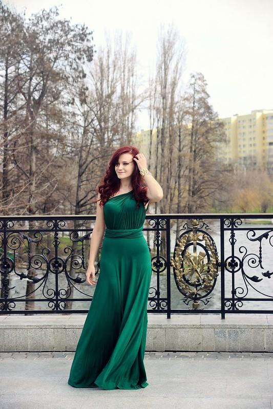 green maxi dress2