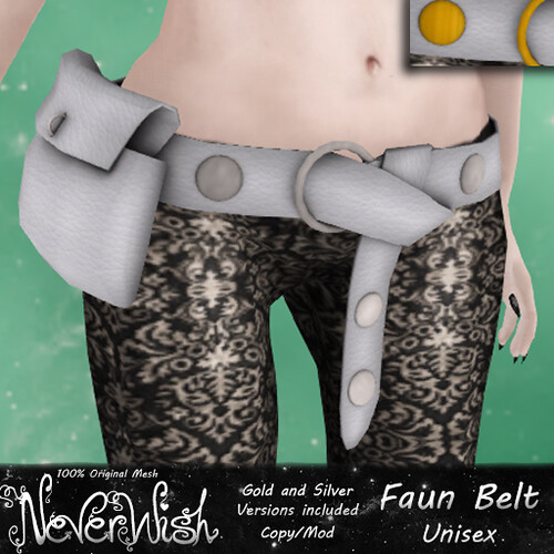 *NW* Faun Belt - White