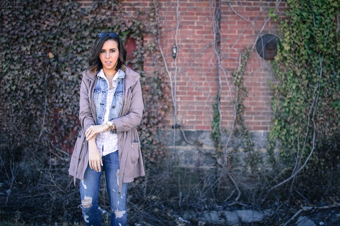 a viza style. andrea viza. fashion blogger. dc blogger. jcrew button down. current elliott stiletto jeans. joie sneakers. casual style. dc style. anorak jacket. 11
