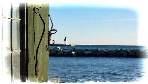 Grand Marais, MN Light House...Digital Art Painting
