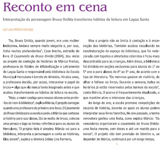 Reconto em Cena. Letra A,  p. 4 - 4, 01 mar. 2013.