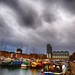 Ominous skies over South Quay