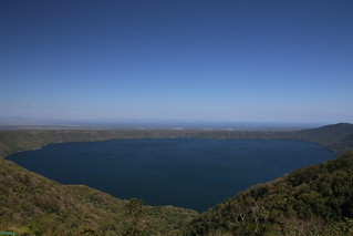 La Catarina and the view over Lake Apoyo.  Nicaragua.