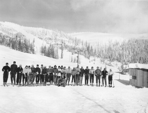 Class picture from the first snow school held in 1950. Watch a video from this year's West-Wide Snow School. NRCS photo.