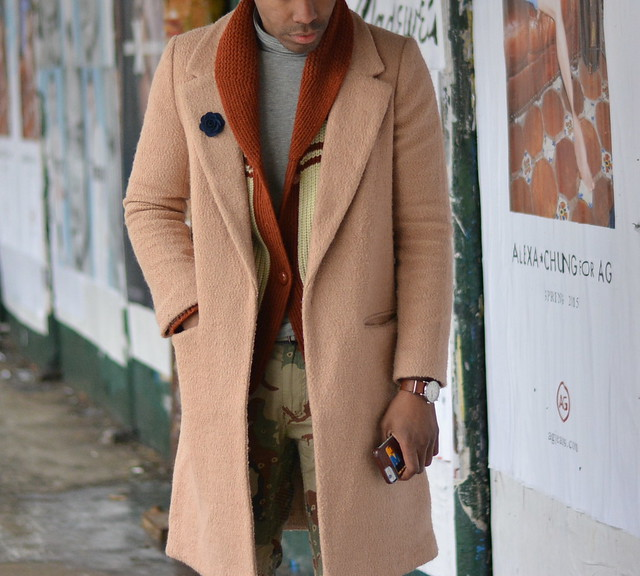 camel coat layer shawl cardigan