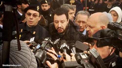 Salvini al C.A.R.A. di Mineo: