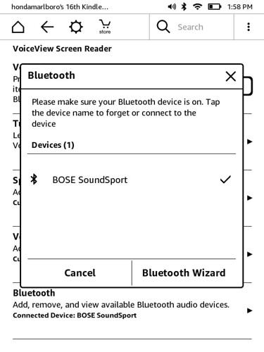 Kindle 2016 Bluetooth Pairing Mode