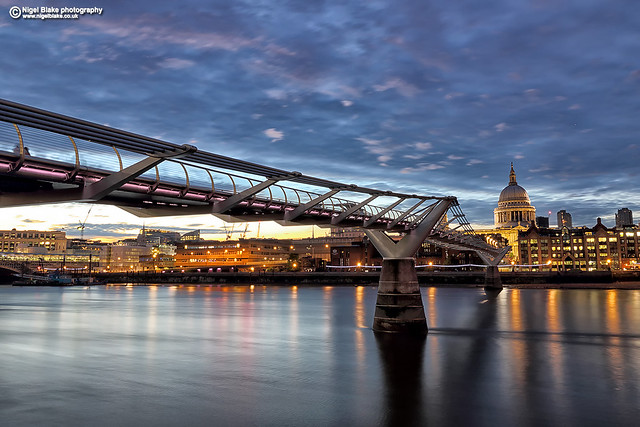 The Millennium Bridge and St Paul's Cathedral