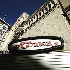 "The Tower theatre on Broadway street in downtown Los Angeles was the first theatre in the city to show ""talking pictures."" Now it's dark and shuttered, with an interior modeled after the Paris Opera House just waiting for revival."