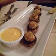 Crab stuffed mushrooms... #lifeistasty #foodiusmaximus