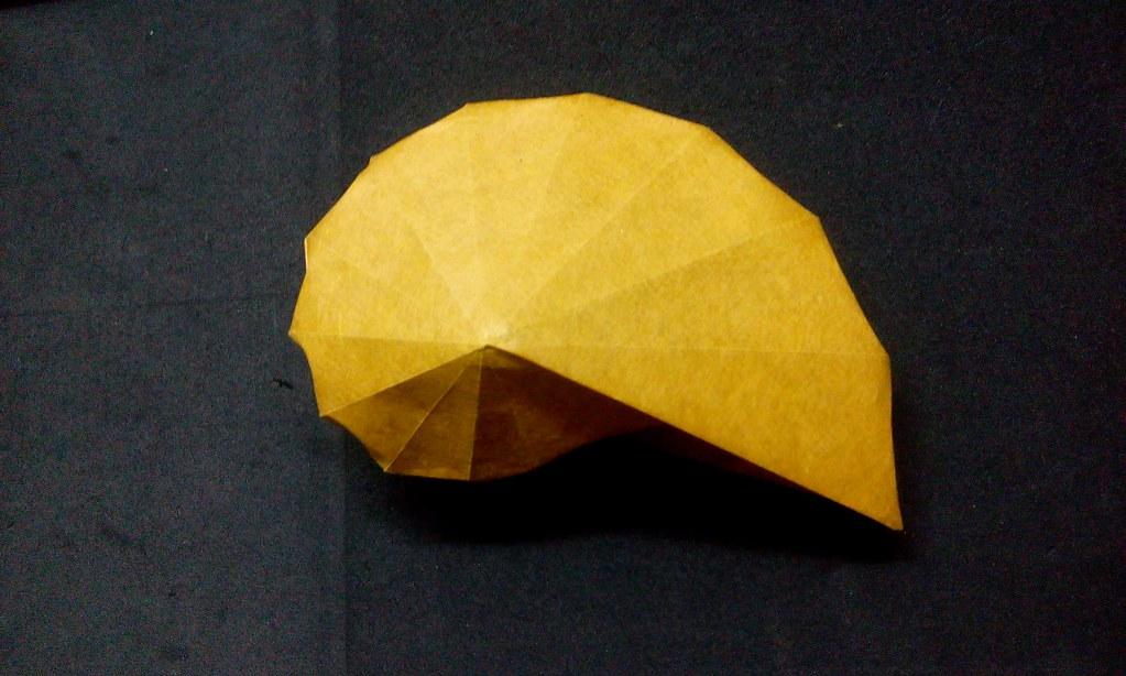 Modular Origami Spiral Star