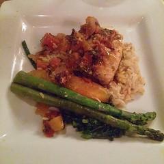 Sea bass, rice pilaf, and veggies... #lifeistasty #foodiusmaximus