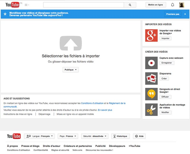 import de videos sur chaîne youtube