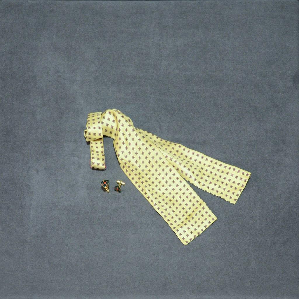 Silk Bow Tie - Cuff Links