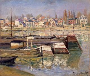 Claude Monet - Seine at Asnières [1873]
