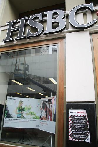 Paralisação contra demissões no HSBC