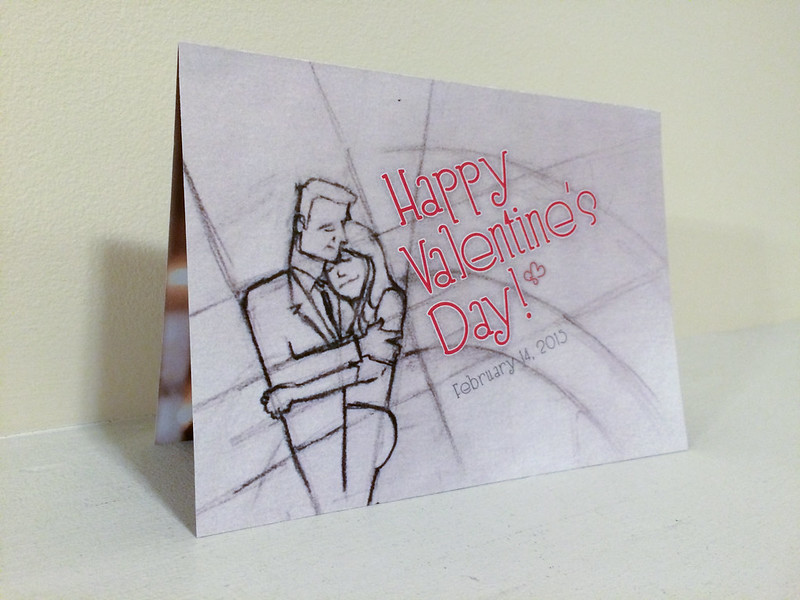 Cover of Valentine's day card, 2015