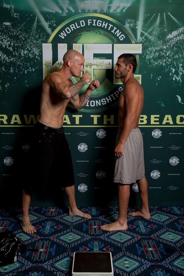 WFC 25 Weigh-Ins Brawl at the Beach