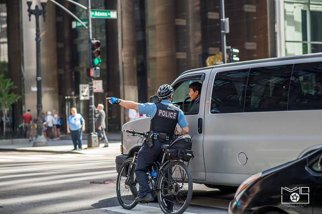 Respect the bike lane-cops on duty