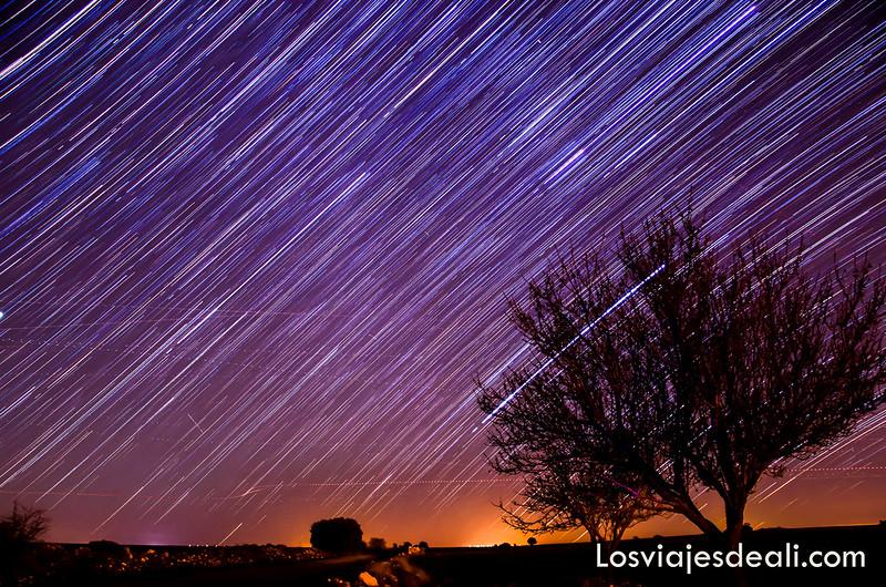 startrails fotografiando el cosmos