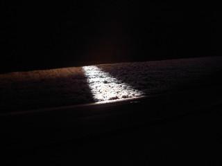 Light under door