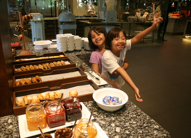Breakfast pastries - the kids only went for donuts!